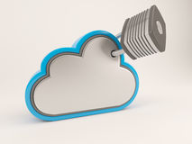 3D Cloud Drive Icon Royalty Free Stock Photography