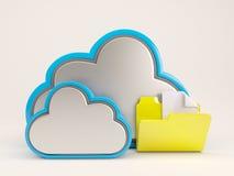 3D Cloud Drive-Pictogram Royalty-vrije Stock Afbeeldingen