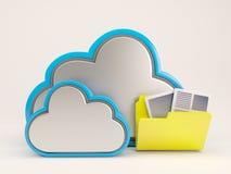 3D Cloud Drive-Pictogram royalty-vrije illustratie