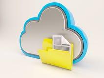 3D Cloud Drive-Pictogram vector illustratie