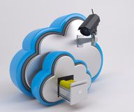 3D Cloud Drive-Pictogram Stock Foto