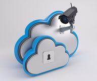 3D Cloud Drive-Pictogram Stock Afbeeldingen