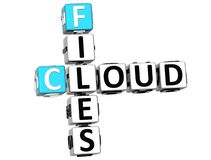 3D Cloud Files Crossword. On white background Royalty Free Stock Image