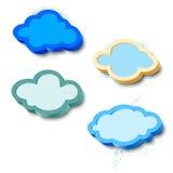 3d cloud frames Stock Image