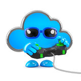 3d Cloud gamer Royalty Free Stock Image
