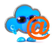 3d Cloud has an email address Royalty Free Stock Photo