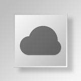 3D Cloud icon Business Concept Stock Photography