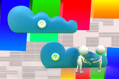 3d Cloud Key Handover Illustration Royalty Free Stock Image