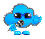 3d Cloud on the microphone Stock Photos