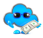 3d Cloud money Royalty Free Stock Image
