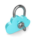 3d cloud padlock isolated over white background Stock Images