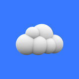 3d cloud vector illustration