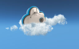 3D cloud security concept Royalty Free Stock Image