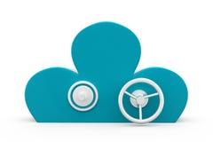 3d cloud security concept Stock Photography