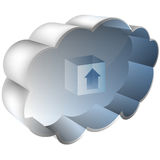 3D Cloud Server Royalty Free Stock Images
