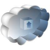 3D Cloud Server. An image of a 3D cloud server Royalty Free Stock Images