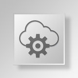 3D Cloud Settings icon Business Concept Royalty Free Stock Photos