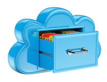 3D Cloud storage services concept Royalty Free Stock Image