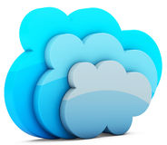 3d cloud storage Royalty Free Stock Images