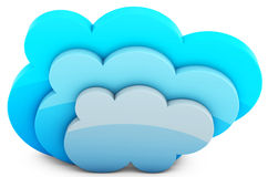 3d cloud storage Stock Photography