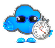 3d Cloud timer Stock Photography