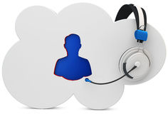 3d cloud user support, help line Royalty Free Stock Photography