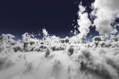 3D Clouds. In an aerial view with blue sky Stock Photo