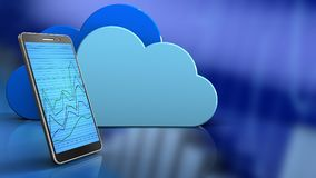 3d of clouds Royalty Free Stock Images