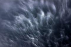 3d clouds mörk illustrationthunderstorm Arkivbild