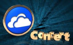 3d clouds symbol concert sign Stock Photos