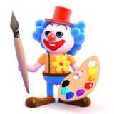 3d Clown artist Stock Photo