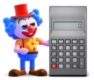 3d Clown calculates Stock Photography