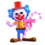 3d Clown candy Stock Images
