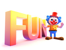 3d Clown fun Stock Images