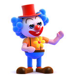 3d Clown gestures to his left Stock Images