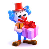 3d Clown gift Stock Images