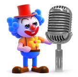 3d Clown maakt een aankondiging Royalty-vrije Stock Fotografie
