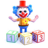 3d Clown maths Royalty Free Stock Photos
