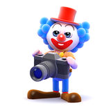 3d Clown photographer Stock Photo