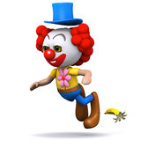 3d Clown slips up Royalty Free Stock Photo