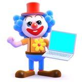 3d Clown verwerkt gegevens Royalty-vrije Stock Foto