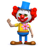 3d Clown waves hello Stock Image