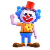 3d Clown waving Royalty Free Stock Photo