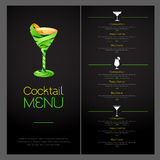 3D cocktail  design. Cocktail Menu design. 3D cocktail  design. Cocktail Menu Stock Image