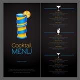 3D cocktail  design. Cocktail Menu design. 3D cocktail  design. Cocktail Menu Royalty Free Stock Photos