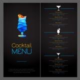 3D cocktail  design. Cocktail Menu design. 3D cocktail  design. Cocktail Menu Stock Photography