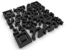 3D Code QR Royalty-vrije Stock Afbeeldingen
