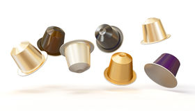 3d coffee capsule Royalty Free Stock Image
