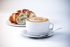 3d coffee and croissant Stock Images