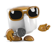 3d Coffee cup singer Stock Photos